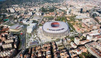 Imagen de la futura urbanización del Camp Nou.