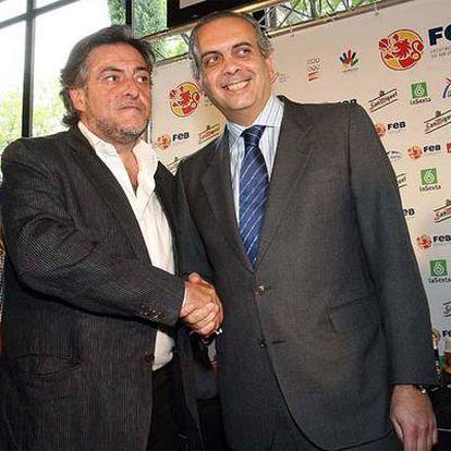 Pepu Hernández y José Luis Sáez, el pasado 15 de mayo.