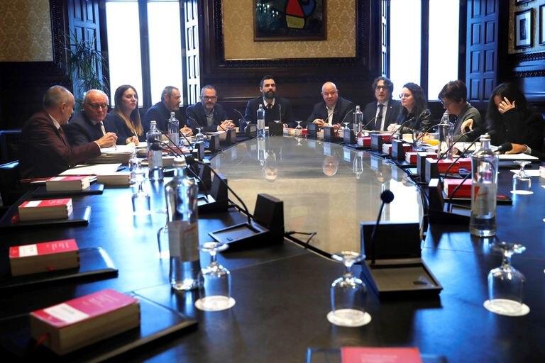Reunión de la Mesa del Parlament el pasado mes de enero.