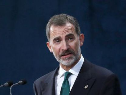 """El Rey  """"España resolverá el inaceptable intento de secesión por medio de la Constitución"""""""