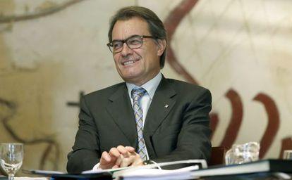 El presidente de la Generalitat, Artur Mas, durante una reunión del Gobierno catalán.