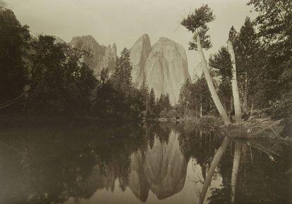 Una de las vistas de Yosemite de Carleton Watkins, expuestas en Casa de América.