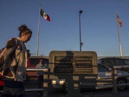 El puente fronterizo que une Ciudad Juárez con El Paso.