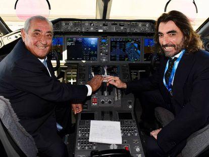 Desde la izquierda, Juan Jose Hidalgo, presidente de Globalia, junto al consejero delegado, Javier Hidalgo.