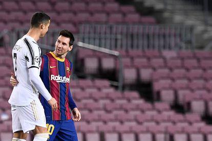 Messi y Cristiano, durante el encuentro entre el Barça y la Juve.