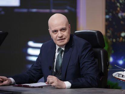El cantante y presentador Slavi Trifonov, líder del partido Existe Tal Pueblo, en una imagen de su programa de televisión en noviembre de 2020.