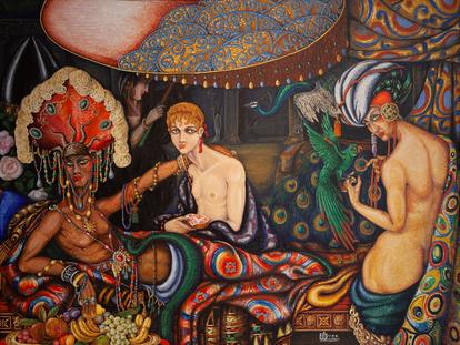 Antonio Juez Nieto. Heliogábalo, 1926. Museo de Bellas Artes de Badajoz.