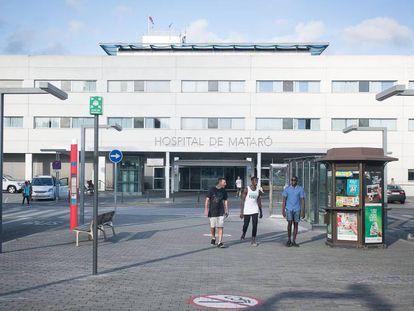 Entrada principal del hospital de Mataró