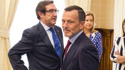 Ángel Currás y Agustín Hernández