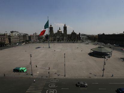 El Zócalo de Ciudad de México, esta semana.