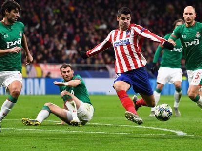 Atlético de Madrid - Lokomotiv, el partido de Champions en imágenes