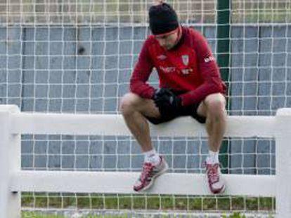 Fernando Amorebieta, en un entrenamiento.