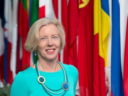 Emer Cooke, directora de la Agencia Europea del Medicamento, el mes pasado en Ámsterdam.