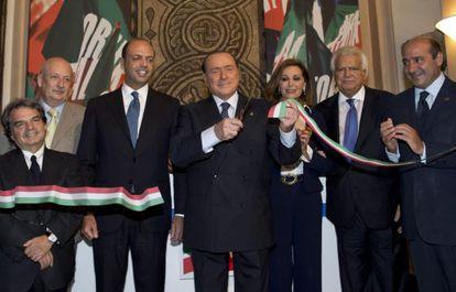 El ex primer ministro italiano Silvio Berlusconi en un acto el 19 de septiembre.
