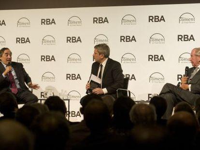 De izquierda a derecha, Joan Rosell, Josep Puigbó y Leopoldo Rodés.