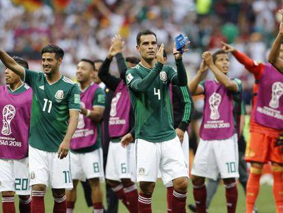 El equipo mexicano, tras el partido con Alemania.