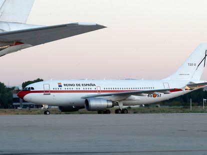 Los dos aviones de traslado de autoridades A310 del Ejército del Aire en la base de Torrejón de Ardoz.