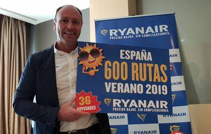 El director de marketing de Ryanair, Kenny Jacobs.