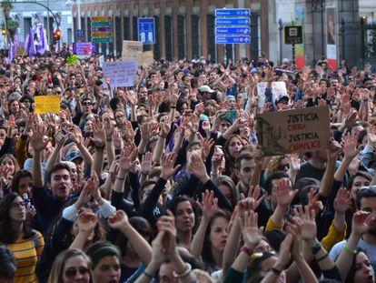 Manifestación en Madrid tras la sentencia de La Manada.