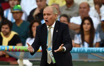 Alejandro Sabella, durante la final del Mundial de Brasil 2014.