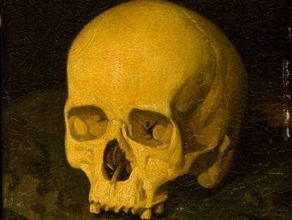 Detalle de 'Vanitas' (1849), de Dionisio Fierros, que retrata supuestamente el cráneo de Goya.