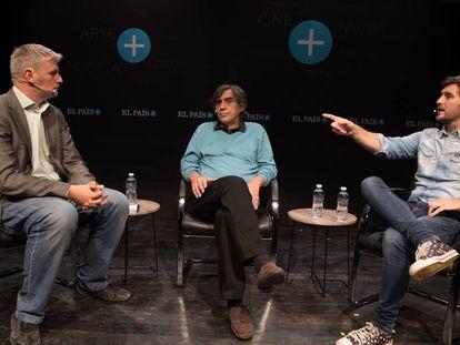 Gregorio Belinchón, Agustín Díaz Yanes y Raúl Arévalo.