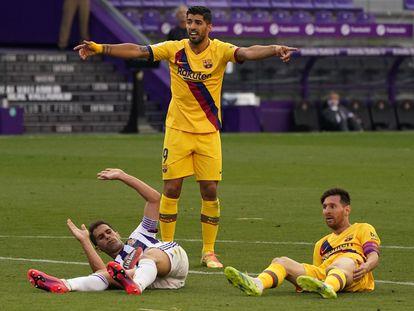 Luis Suárez, en el partido ante del Barcelona ante el Valladolid.
