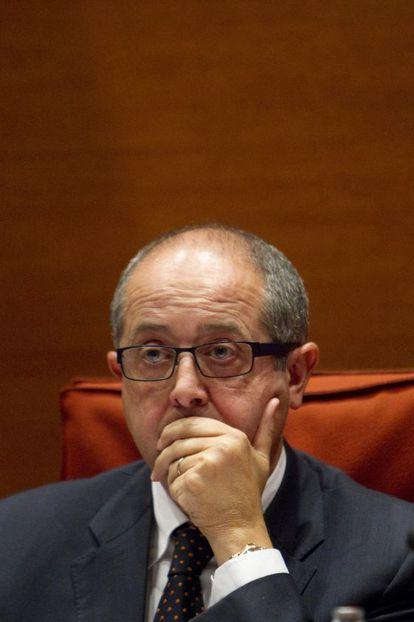 Felip Puig en la comparecencia en la permanente del Parlament
