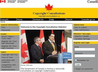 La iniciativa tiene el objetivo de averiguar qué opinan los canadienses sobre la ley de propiedad intelectual