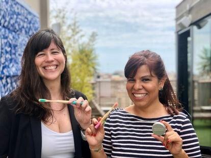 Juliana Montaño (izquierda) y Andrea Vázquez, fundadoras de Mínima Organics.