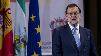 Mariano Rajoy, en un acto en Málaga.