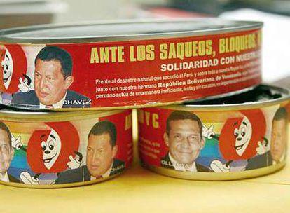 Las latas de atún con la cara de Hugo Chávez