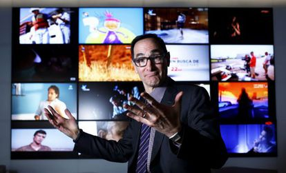 Josh Sapan, presidente de AMC Networks, en las oficinas de la sede española de la cadena.
