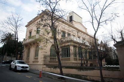 El palacete de la calle de Iradier, en Barcelona, que entre 1941 y 2020 ha tenido un uso policial.