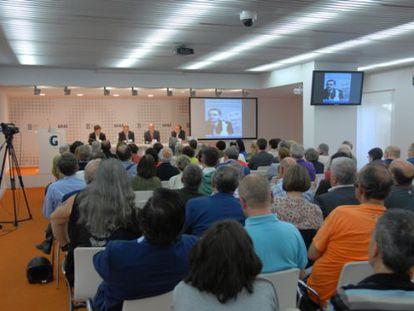 Presentación del libro de Anasagasti y Erkoreka en la Fundación Sabino Arana.