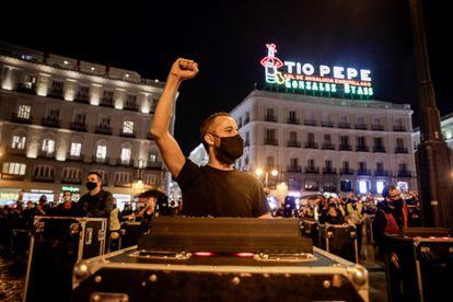 Manifestación convocada por Alerta Roja el pasado 17 de septiembre en la Puerta del Sol de Madrid.RICARDO RUBIO / EUROPA PRESS