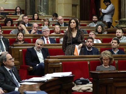Imagen del pleno del Parlament de este miércoles.