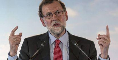 Mariano Rajoy, este sábado, en Mallorca.