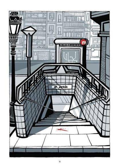 Dibujo de Cristina Durán sobre el accidente de metro de Valencia.