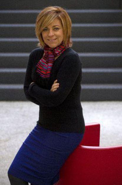 Elena Valenciano en otro momento de la entrevista.