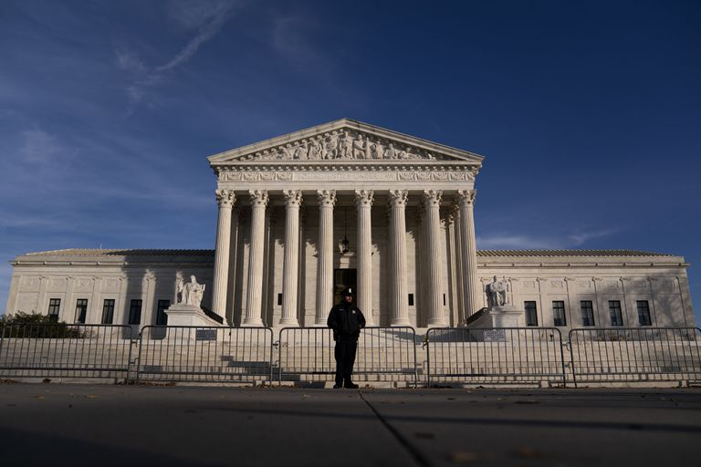 Fachada del Tribunal Supremo de Estados Unidos, el 11 de diciembre.