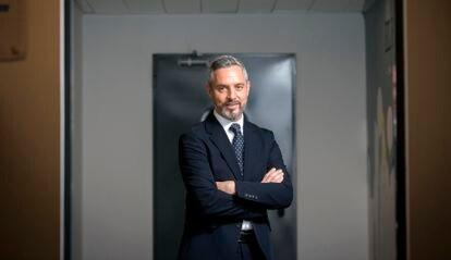 Juan Bravo Baena, consejero de Hacienda de la Junta de Andalucía, en abril en Madrid.
