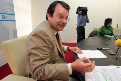 Ángel Bernardo Tahoces, en una comparecencia pública en julio de 2010.