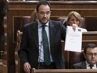Antonio Hernando, portavoz del PSOE, en el Congreso.