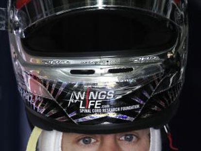 Sebastian Vettel, antes de los entrenamientos libres.