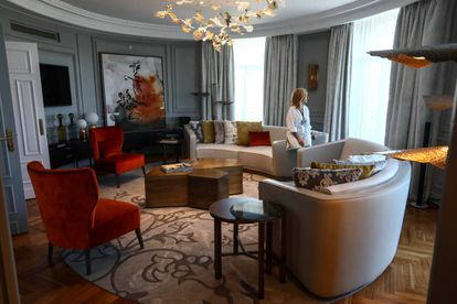 Suite real del Hotel Palace, dedicada a clientes de alto 'standing'.