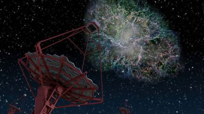 Ilustración de uno de los telescopios del CTA