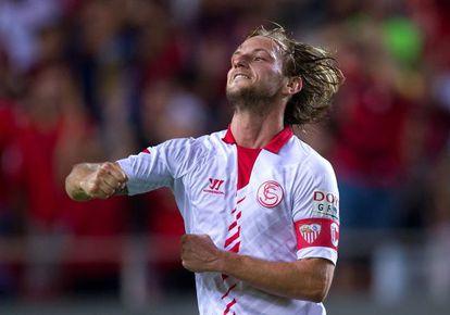 Rakitic celebra un gol al Rayo