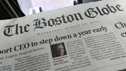 La edición de 'The Boston Globe' del pasado 15 de agosto.