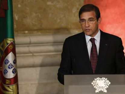 El primer ministro portugués, Pedro Passos Coelho, este viernes en Lisboa.